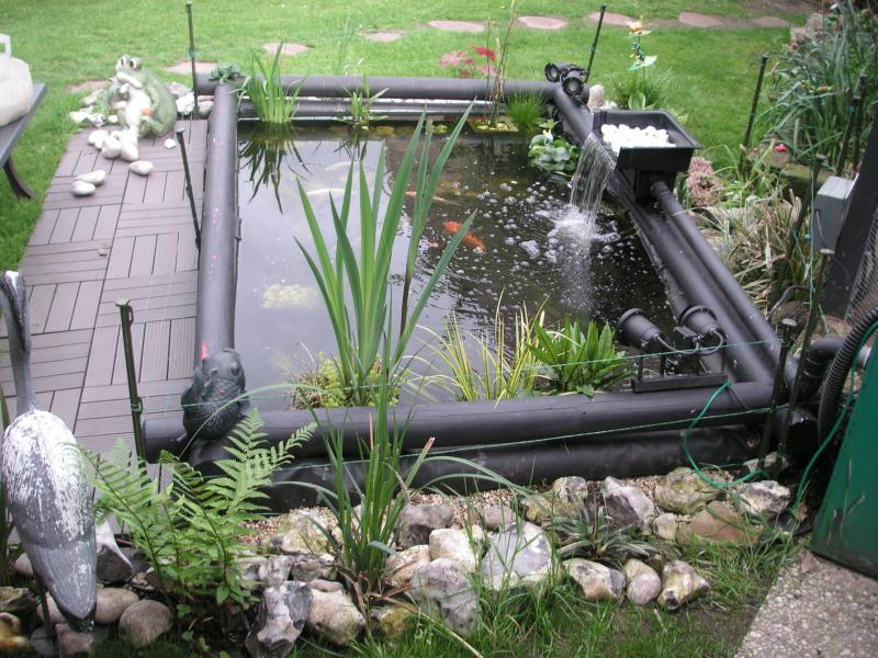 aquabassin bassin de koi59 avec la nouvelle lame d 39 eau. Black Bedroom Furniture Sets. Home Design Ideas
