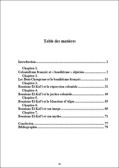 Bouziane El-Kal'i. Le lion des Béni-Chougrane Bouziane-t.m-3393ddb